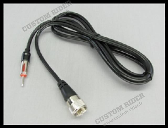 Cordon d'antenne PL259 / Motoradio mâle