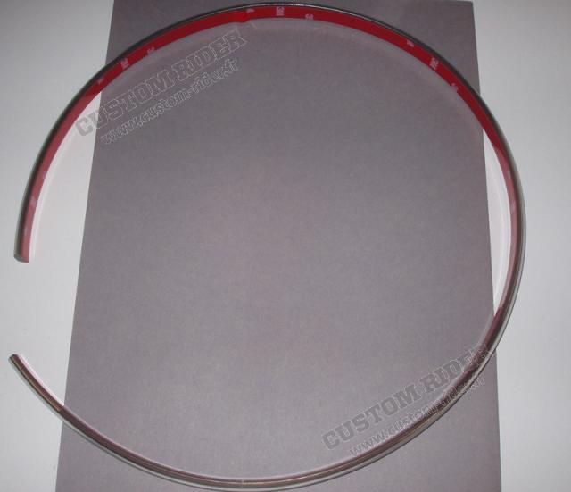 Jonc chromé plat 15 mm