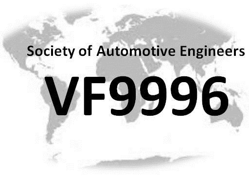 Identification Internationale Constructeur   ISO/WMI VF9     ISO/VIN 996